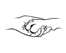 Freundschaft - Pfote Und Hand