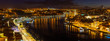 Panoramic view of the Oporto city and Vila Nova de Gaia at night