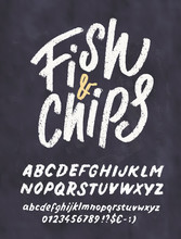 Fish And Chips. Menu Template.