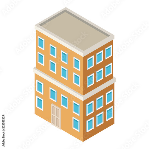 Foto  Residence building isometric