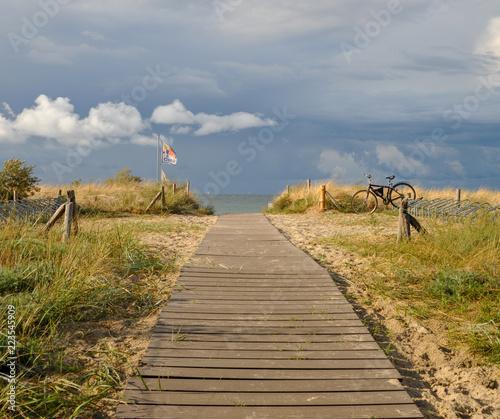 Strandaufgang Strand Düne zugang weg straße ostsee nordsee badeurlaub strandurlaub strand sand