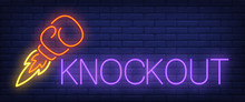 Knockout Neon Text With Boxing...