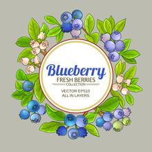 Blueberry Vector Frame