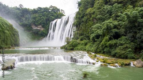 Poster Watervallen Huangguoshu Waterfall in China