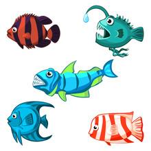 Cartoon Vector Sea Fishes