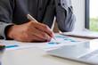 businessman planning to invest, Strategic thinking, budget planning.
