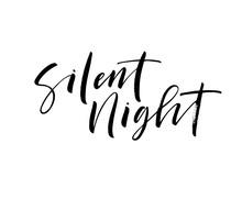 Silent Night Card. Hand Drawn ...