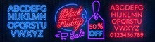 Black Friday Neon Lettering On...