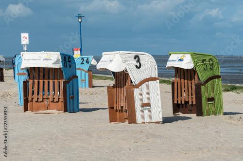 Strandkörbe in Bensersiel in Ostfriesland