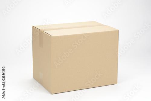 Fotografie, Obraz Caja de cartón sobre fondo blanco