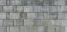 Concrete Or Cobble Gray Pavement Slabs Or Stones  For Floor, Wall Or Path.