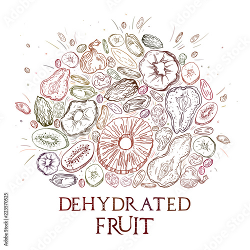 Fototapeta Dehydrated fruit pattern obraz