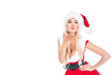 Young Sexy Woman In Santa Dres...