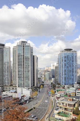 Keuken foto achterwand Stad gebouw City Center of Seoul