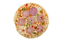 Frozen Pizza With Salami Isola...