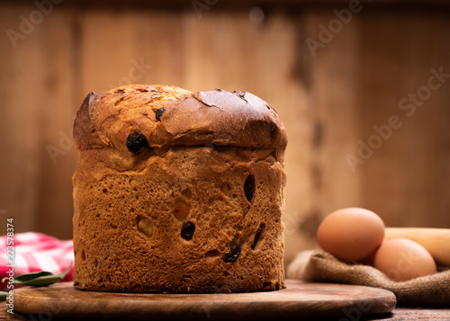 Italian Christmas Cake.Italian Christmas Cake Panettone Buy This Stock Photo And