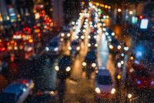 Traffic Jam In Rainy Day