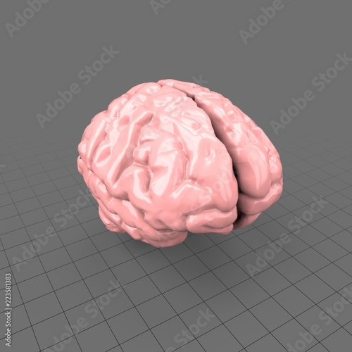 Stylized human brain  Buy this stock 3d asset and explore