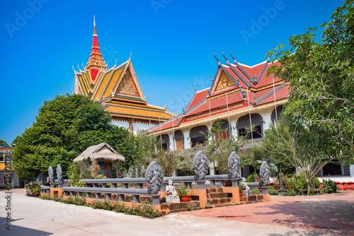 Deurstickers Bedehuis Wat Preah Prom Rath beautiful temple view in Siem Reap, Cambodia