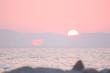 Beautiful sunset sea background