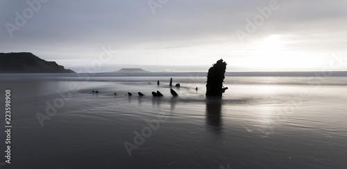 Helvetia wreck, Rhossili bay, Gower Tapéta, Fotótapéta