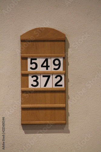 A Simple Classic Wooden Church Service Order Board. Canvas Print