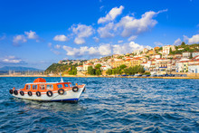 View Of The Picturesque Coastal Town Of Pylos, Peloponnese, Greece.