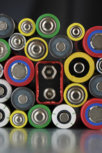 Close-up Of Colorful Batteries...