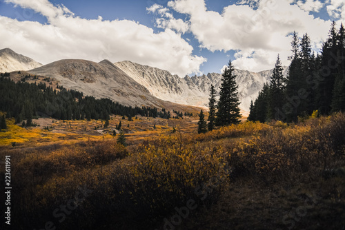 Landscape views of Mayflower Gulch in Colorado during autumn.