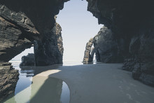 View Of Rock Arches At Cathedral Beach