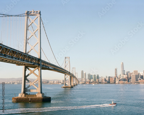 Canvas Prints Bridge Bay Bridge and view of the San Francisco Skyline