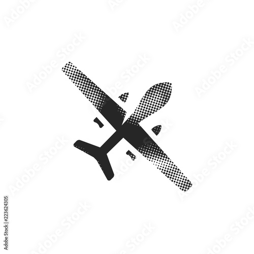 Photo  Halftone Icon - Unmanned aerial vehicle