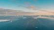 Ice floe floating in the ocean