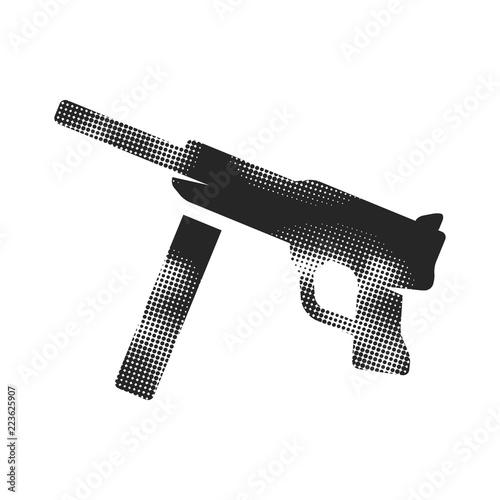 Fotografia, Obraz  Halftone Icon - Vintage Firearm