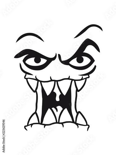 Clipart Lachen Fressen Horror Böse Gefährlich Gesicht Kopf Gruselig