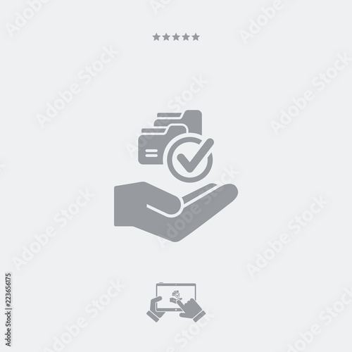 Fotografie, Obraz  Service offer - Data copy - Minimal icon