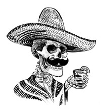 Dead Man In Sombrero Hat With ...