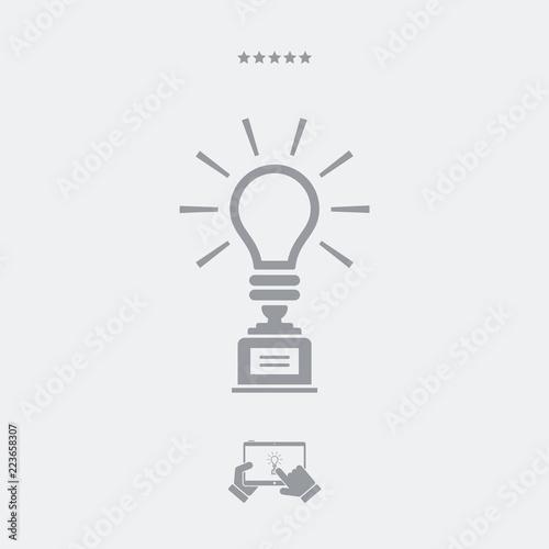 Fotografie, Tablou  Challenge for best idea - Vector web icon