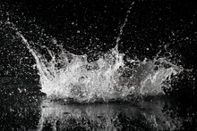 Splash Of Water On A Black Background