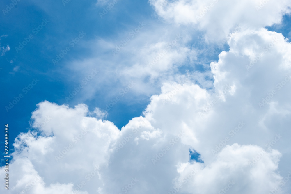 cloud and sky under the sun