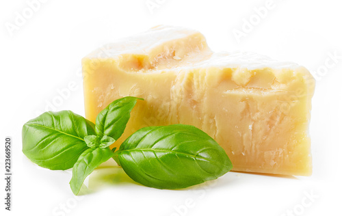 parmesan cheese and basil