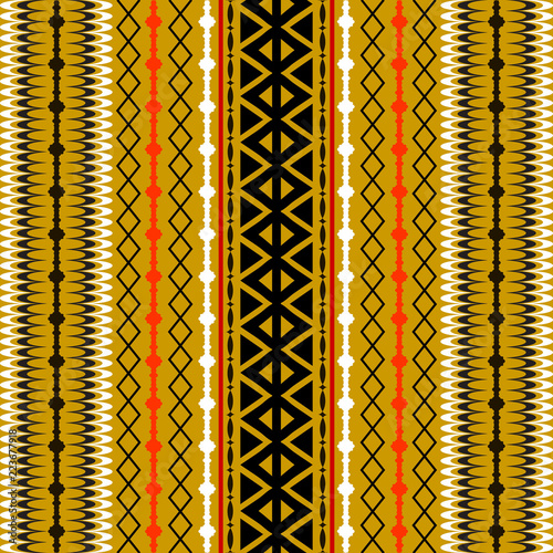 Tribal Striped Vector Seamless Pattern Abstract Ornamental