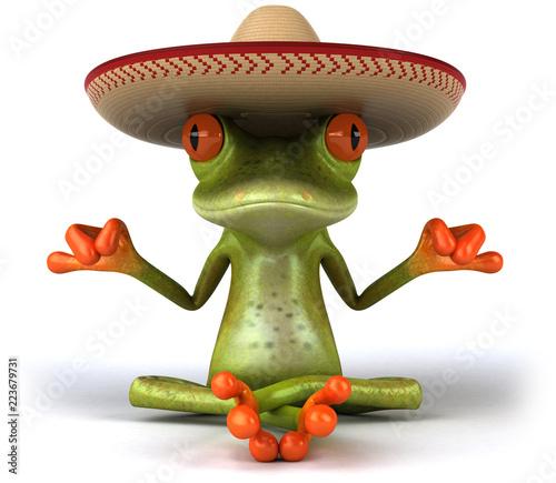 Valokuva Fun frog - 3D Illustration