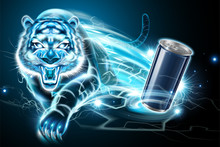 Aluminum Can With Tiger