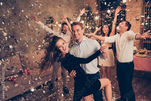 Staande foto Schilderingen Excited elegant attractive charming beautiful cheerful well-dres