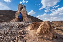 Ruins Tall Stupa Of Ongi Monas...