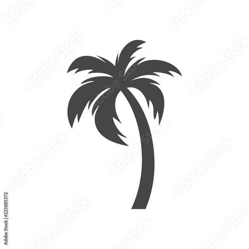 Silhouette palm tree, Palm tree icon Slika na platnu