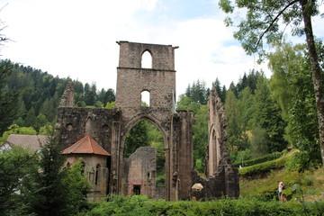 Fototapeta na wymiar klosterruine Gesamtansicht