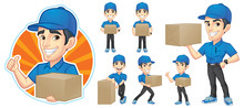 Courier Young Man Character Se...