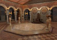 3D Rendering Throne Room